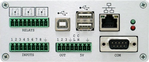 TS-ENC750 Face Plate shown with mating screw terminal connectors removed