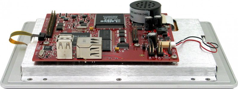 TS-TPC-7395 Angle View shown with standard speaker